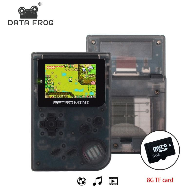 Data Frog <font><b>Retro</b></font> Game Console 32 Bit Portable Mini Handheld Game Players Built-in 940 For GBA Classic Games Best Gift For Kids