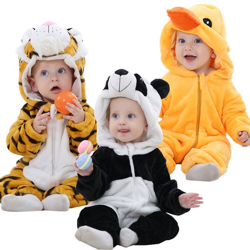 (Малыш станции) для маленьких мальчиков и девочек детские комбинезоны для новорожденных мультфильм комбинезон Теплый весна-осень Зима живо...