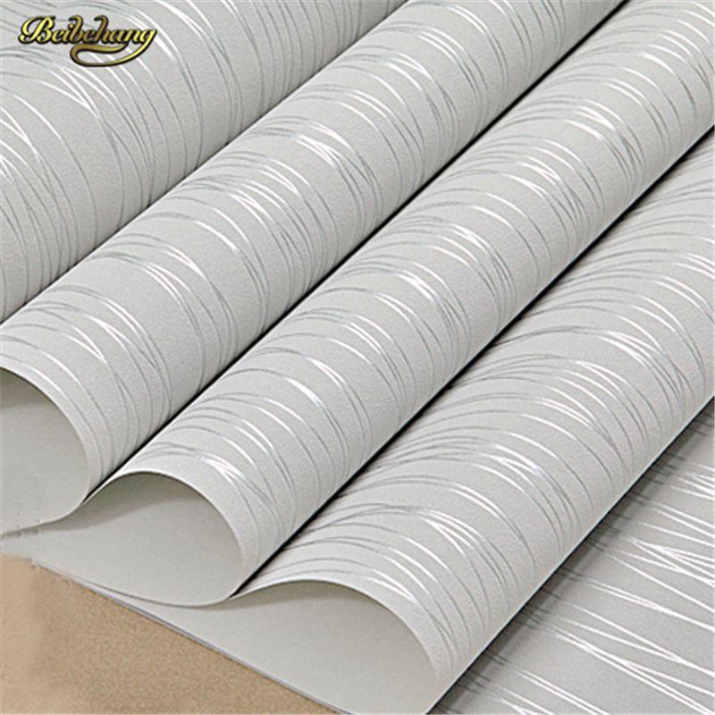 beibehang Vertical Stripe Wallpaper Roll Modern Murals Non-woven Flock Printing Wall Paper Backdrop Living Room .papel de parede
