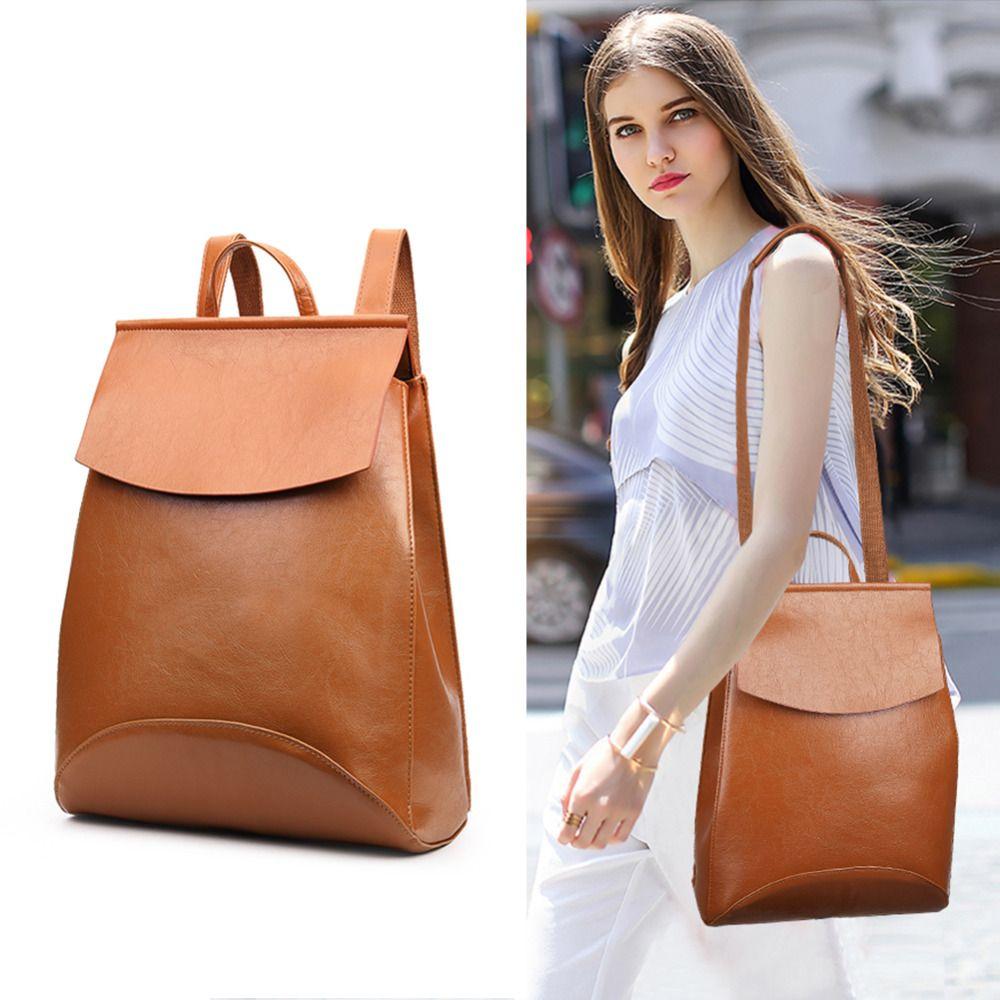 Винтаж BOLSOS корейский стиль женские кожаные рюкзак женский рюкзак Водонепроницаемый ранцы для женщин BOLSOS Mochila Mujer