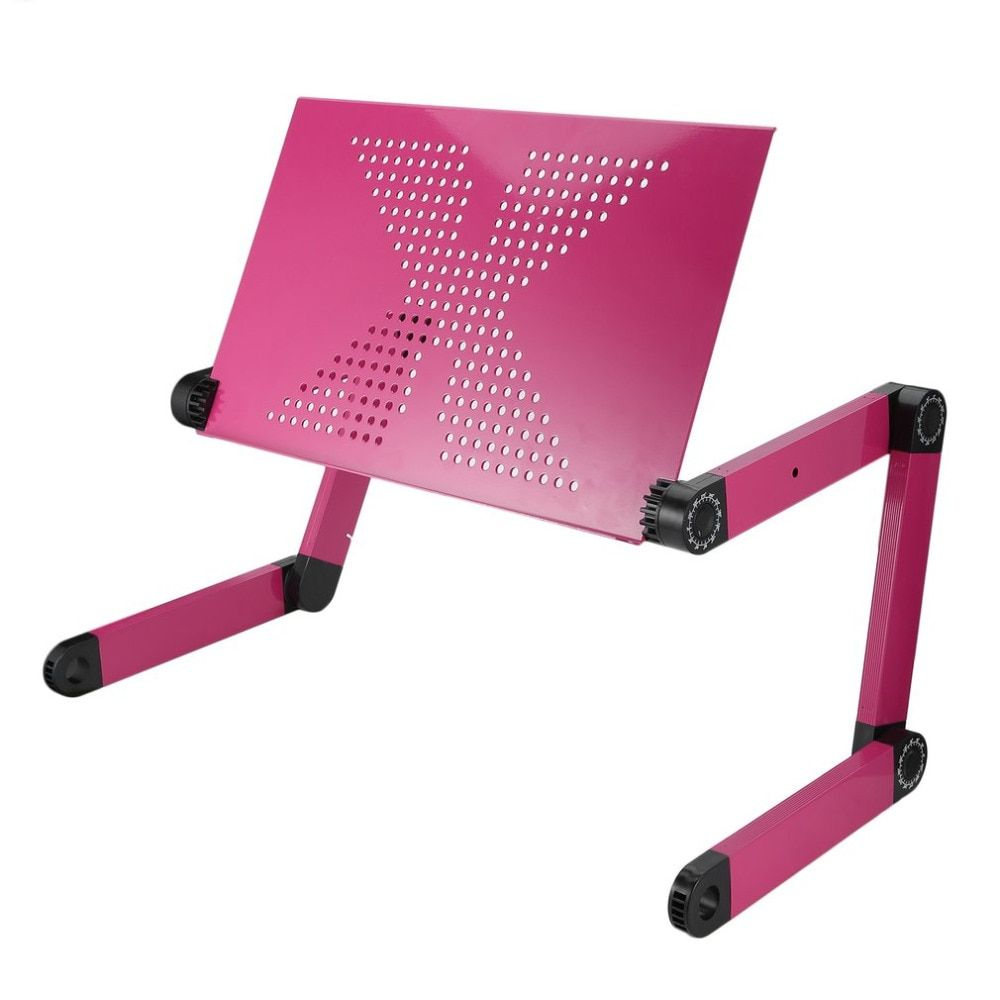 Portable 360 Degree Adjustable Homdox Computer Desk  Foldable Laptop Notebook Lap PC Folding Desk Table Vented Stand Bed Tray