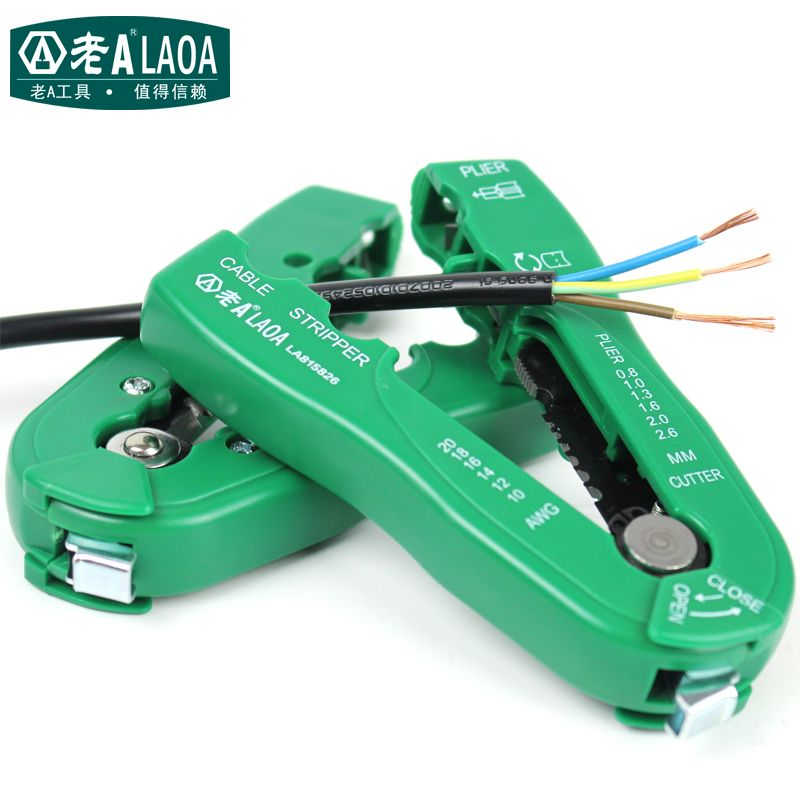 LAOA Multi-<font><b>functional</b></font> Wire Stripper Portable Handheld Stripping pliers Brand Mini Wire Stripper