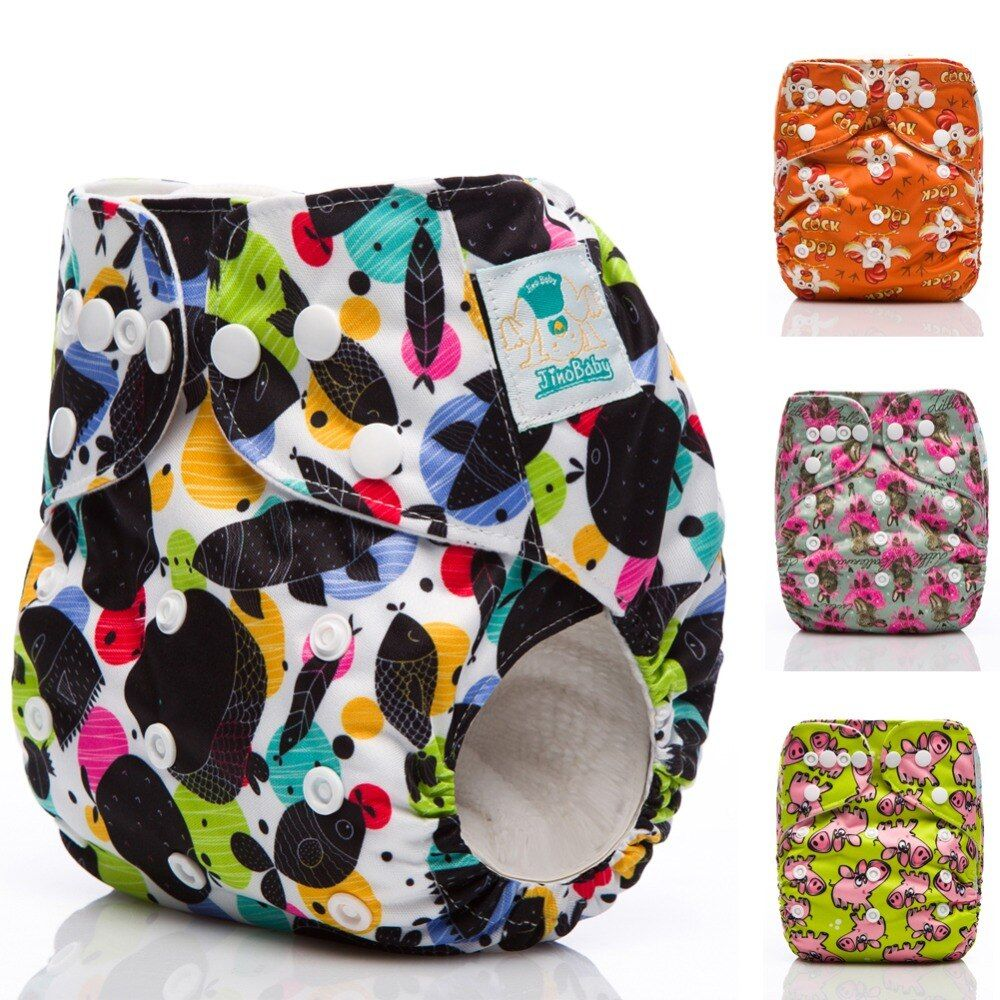 JinoBaby Washable Diaper Pocket Couches Lavables Cloth Diapers Reusable Diaper Fits for Newborn to 13KGS