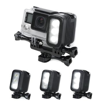 30 Meters Underwater Waterproof  Diving LED Gopro LED Light Spot Lamp for GoPro Hero 5 4 3+ 3 2 SJCAM XIAOYi Sport Cameras