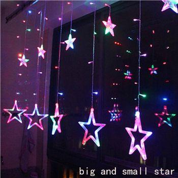 2 м светодиодный Рождественские звезды огни в помещении 220 В светодиодный фея Праздничные огни для вечерние/Новый год рождественские украше...