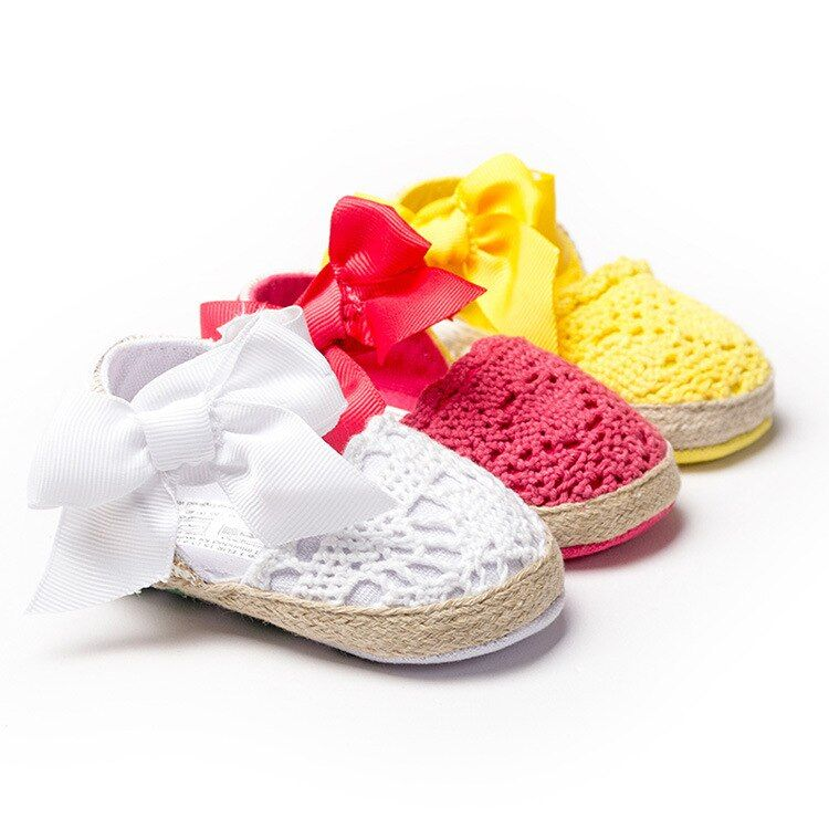 Для маленьких девочек Летняя обувь сандалии с бантом детские мокасины малышей мягкие детей moccs детская обувь детей сандалии Нескользящие о...