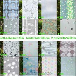 2017 45*200 cm privacidad decorativa ventana Películas opaco ventana pegatinas para ventanas raam Folie vinilo baño blanco