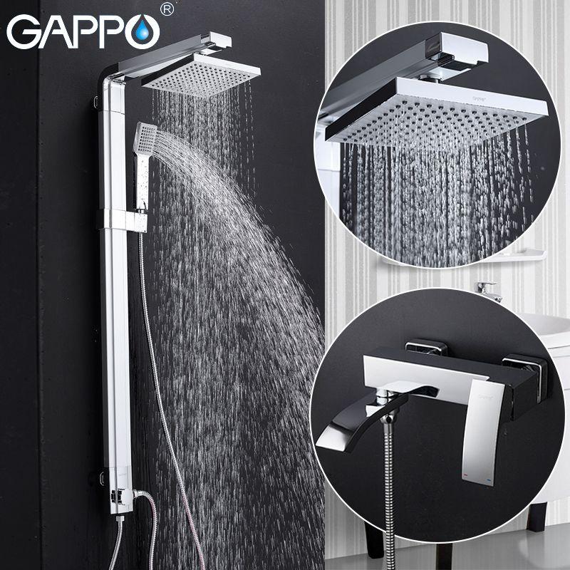 GAPPO shower faucet shower taps bathroom faucet mixer brass bathtub mixer wall mounted rainfall shower set