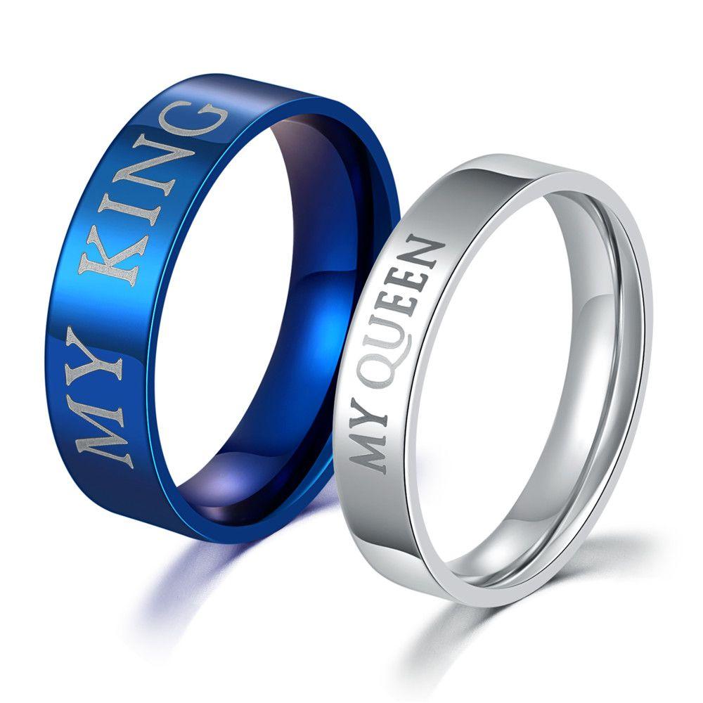 Superior de la venta de acero inoxidable pareja anillos para los amantes