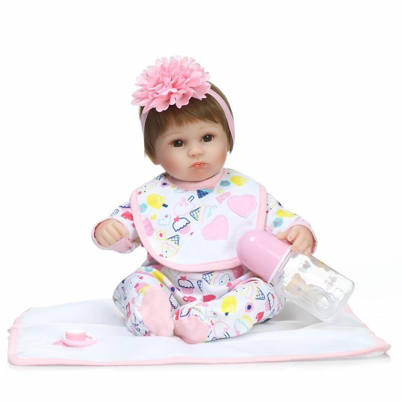 42 cm bebe chica muñecas juguetes de vinilo de silicona renacer bebés reales Muñecas del bebé Recién Nacido para niños brinquedos bonecas reborn regalo