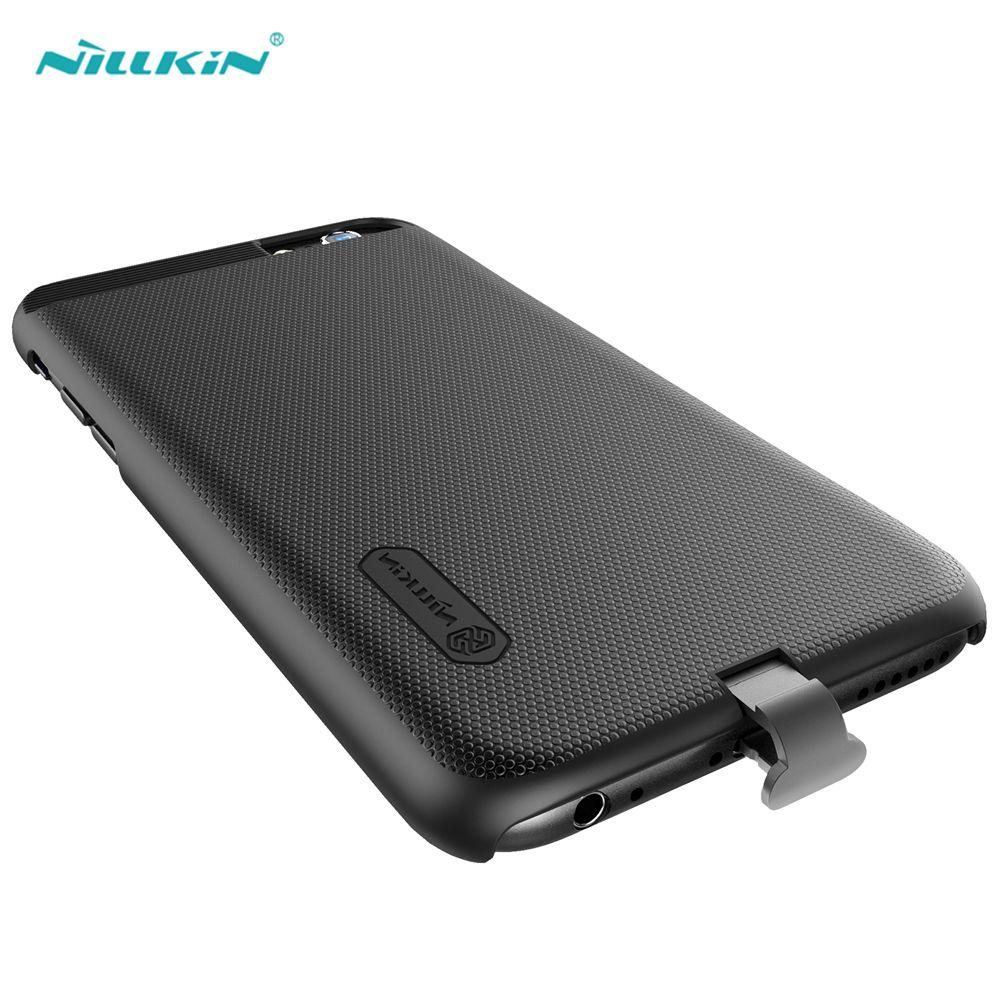 Nillkin Noir Qi Chargeur Sans Fil Récepteur Cas pour iPhone 7 Plus Sans Fil De Charge Téléphone Étui de protection Couverture Arrière pour iPhone7