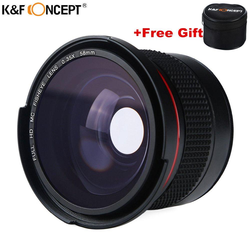 58 MM FHD 0.35x Fisheye Macro Grand Angle Caméra Objectif Multi-enduit bleu Couches Lentilles Pour Nikon d3300 Canon 6d 600d Fujifilm DSLR
