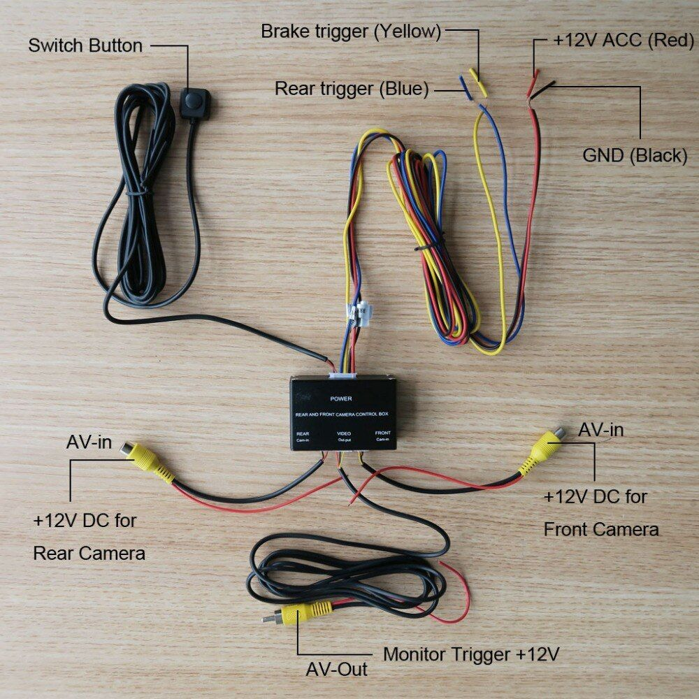 Car Front And Rear Camera Control Box System Two Cameras Image Switch Control Box Intelligent Control Car Camera Video