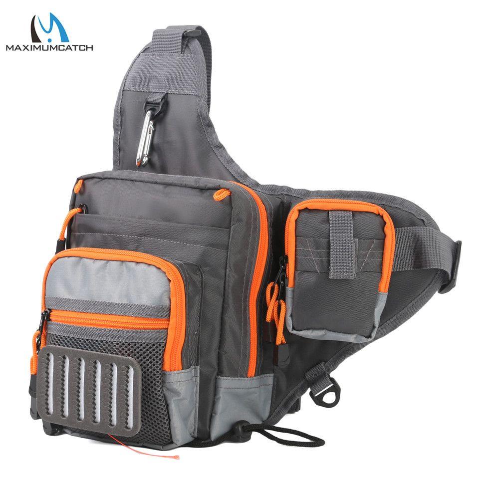 Maximumcatch V Cross 23*21*8.5 cm Fishing Sling Bag Waterproof Multi Function Fishing Waist Bag Pack with Fly Patch Fishing Tool