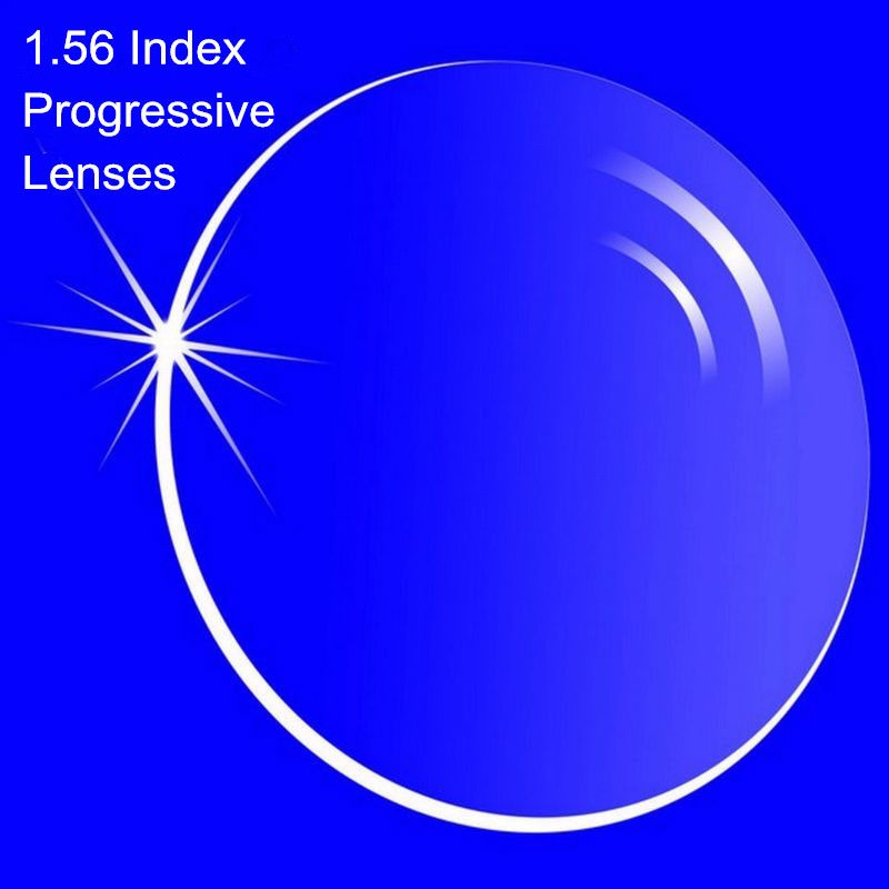 1.56 Index Prescription Progressive Lenses Free Form Multi Focal Lens without line for Myopia/Hyperopia Inner Progressive Lenses