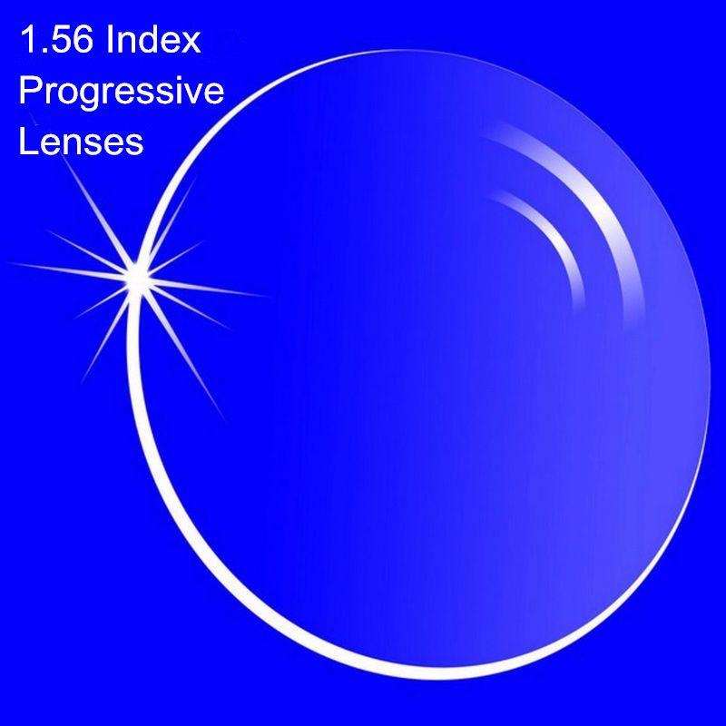 Lentilles progressives de Prescription d'index 1.56 lentilles Multi focales de forme libre sans ligne pour les lentilles progressives internes de myopie/hyperopie