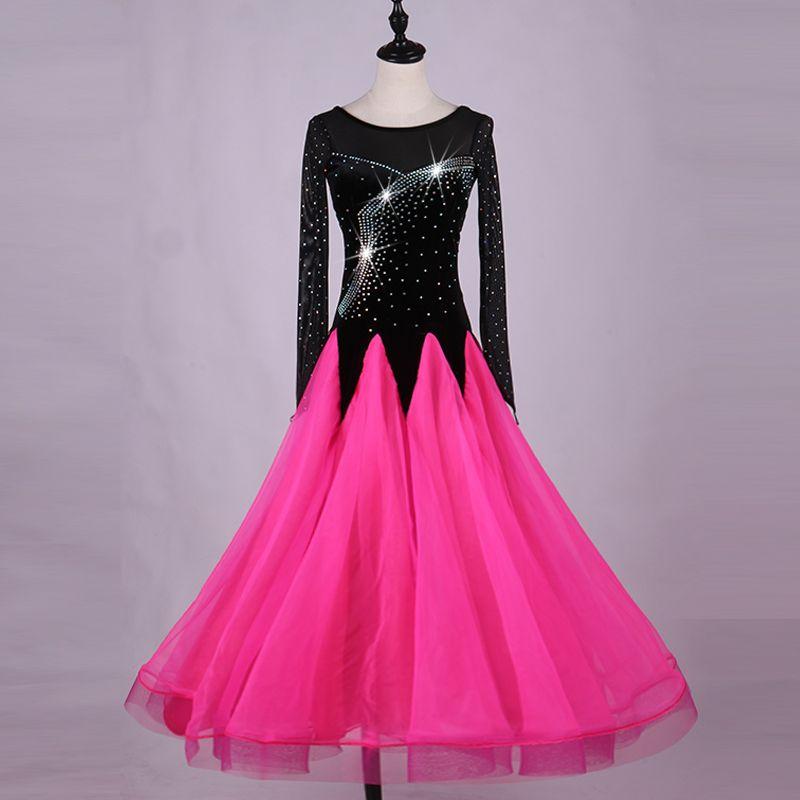 Popular Modern Dance Dresses For Lady Black White Color Lace Skirt Clothes Woman Waltz/Tango/ Ballroom Dress Fashions DQ11023