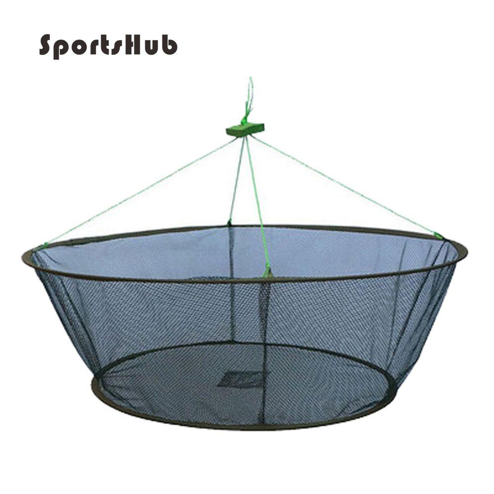 SPORTSHUB Portable pliant filets de pêche réseau coulée poissons crevettes écrevisses attrape filets FT0009