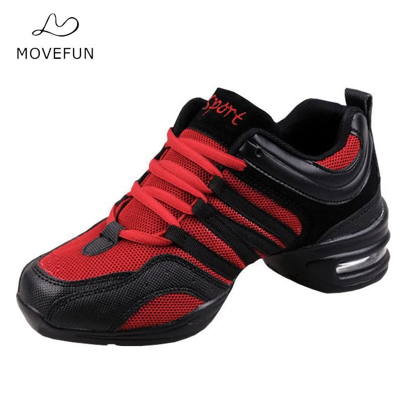 Women Hip Hop Shoes Jazz Dances For Dancing Sneakers For Woman Feature Soft Outsole Breath Dance Shoes