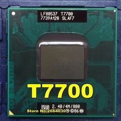 T7700 7700 CPU 4M Socket 479 Cache/2.4GHz/800/Dual-Core Laptop processor support 965