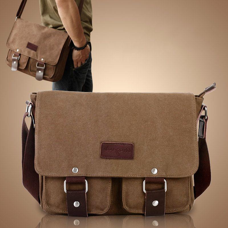 NEW shoulder bags Vintage Canvas Crossbody Bag Men's Messenger Shoulder Laptop Bags Casual Teenagers High Qualit shoulder bag