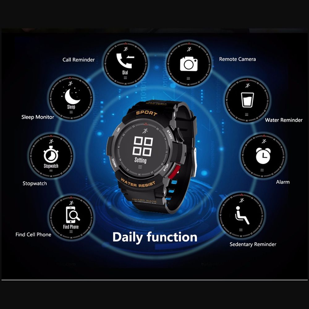OGEDA Männer Uhr Bluetooth F6 Smartwatch IP68 Wasserdicht Heart Rate Monitor Fitness Tracker Smart uhr mit Multi Sport Modus Neue
