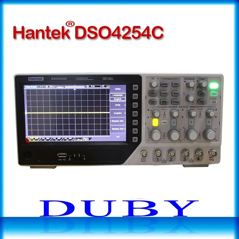 Hantek DSO4254C 4CH 1GS/s sample rate 250MHz bandwidth Digital Storage Oscilloscope Portable Integrated USB Host/Device
