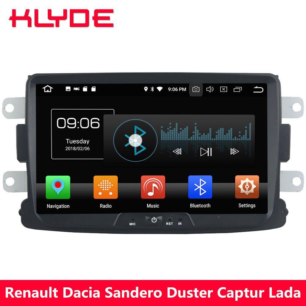 KLYDE 4g Octa Core Android 8.0 4 gb + 32 gb Auto DVD-Multimedia-Player Radio Für Renault Xray Logan dacia Sandero Duster Captur Lada