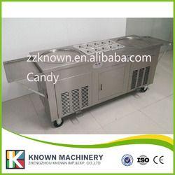 Fuente de la fábrica 2 + 10 plana pan Tailandia frito helado rollo máquina precio para la venta