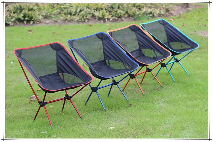High Strength Aluminium Alloy Light Folding Fishing Chair Outdoor Camping Leisure Picnic Beach Chair Other Fishing Tools