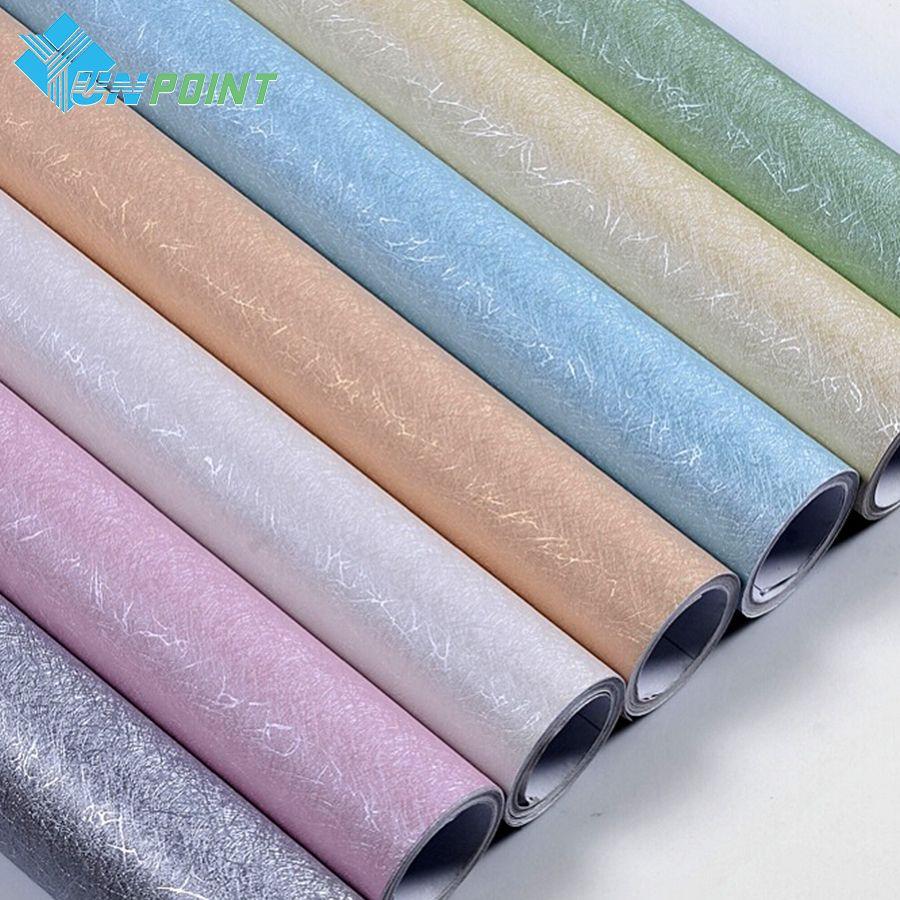3 M/5 M/10 M Moderne Soie Texture Papier Peint PVC Vinyle Auto-Adhésif Film Enfants Chambre autocollants Muraux de Mur Imperméable À L'eau Autocollants