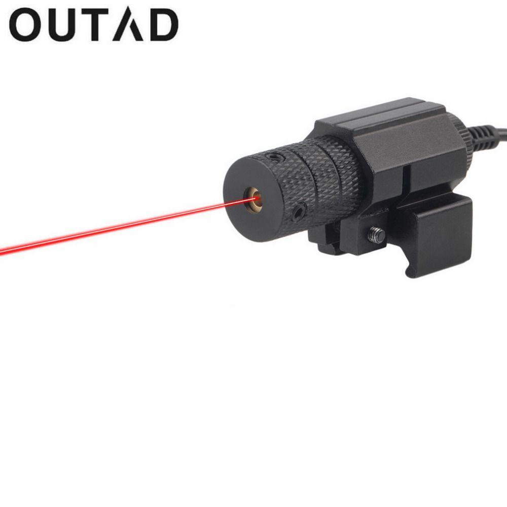 OUTAD taktischer Roter Mini 1 Satz Rote Laser-Pointer Anblick mit Schwanz Schalter Umfang Pistole mit Verlängern Rattenschwanz Jagdoptik