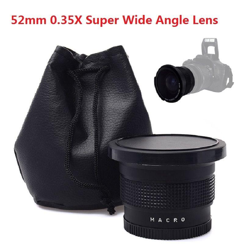 Lightdow 52mm 0.35x Super Grand Angle Lentille Objectif pour Nikon D7200 D7100 D5200 D5100 D5000 D3100 D3200 avec 18-55mm Caméra lentille