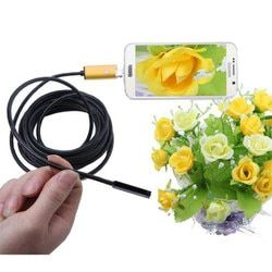 10M/5M/2M 5.5mm Lens USB Cable Inspection Camera AN99 2in1 Android 6LED Waterproof Endoscope Borescope Snake Inspection Mar10