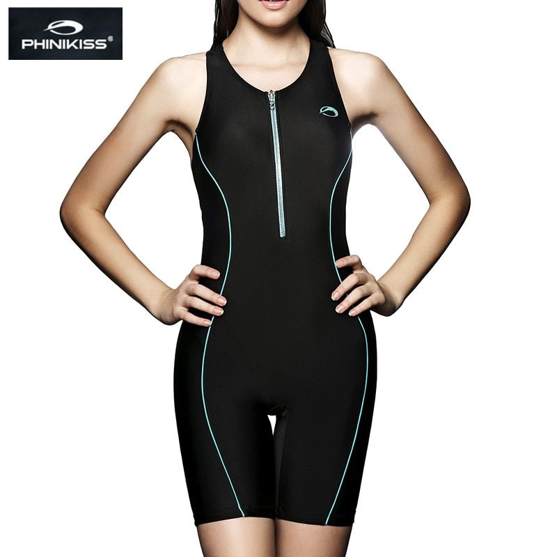 PHINIKISS Professional Women Racing Swimsuit Large Size one-piece Suits Swimming Sport Competition Swimwear 2018 Black Bodysuit