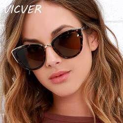 Cateye gafas de sol mujer de lujo marca diseñador Vintage Gradient gafas Retro gafas de sol moda femenina gafas UV400