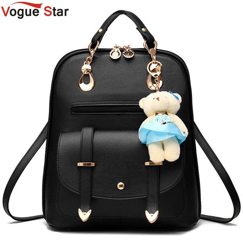 Vogue Star 2018 women backpack leather backpacks women travel bag school bags backpack women's travel bags Rucksack bolsas LS535