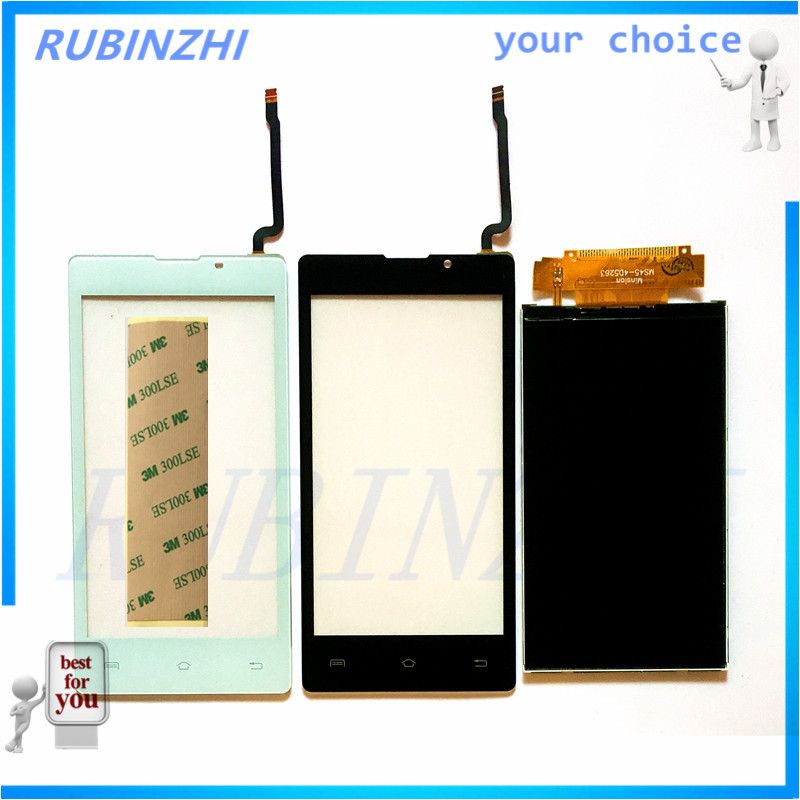 RUBINZHI Phone Touch Screen Panel Sensor Display For Prestigio Wize A3 PSP3453 DUO PSP 3453 Touch and LCD Glass Digitizer+tape