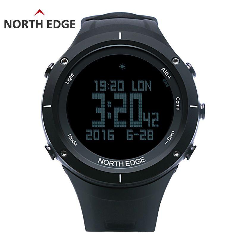 NORTH RAND männer sport digitaluhr Stunden herzfrequenz Lauf Schwimmen uhren Höhenmesser Barometer Kompass Thermometer Schrittzähler