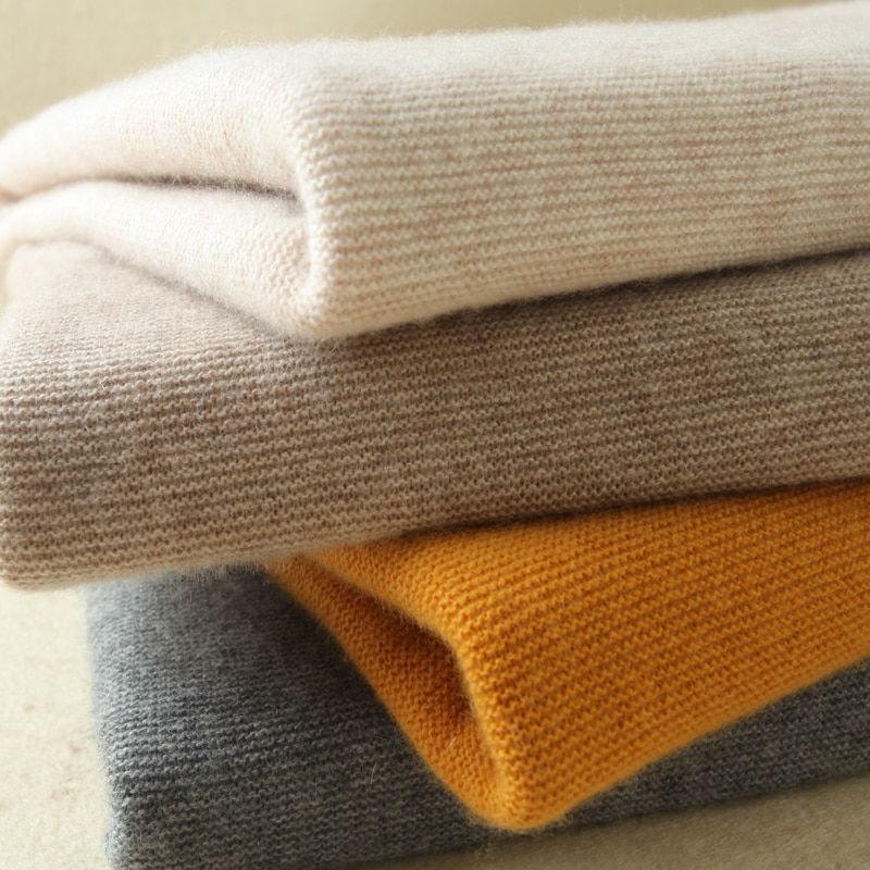 High Quality Women Sweaters 100% Cashmere Jumpers Menca Sheep New Fashion Turtleneck Pullovers Female Standard Knitwear Clothes
