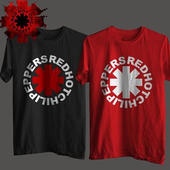 Nk Punk Rap Alternative Rock And Roll rouge piment fort poivrons T-Shirt hommes coton impression noir Rock musique HIp Hop T-Shirt T-Shirt
