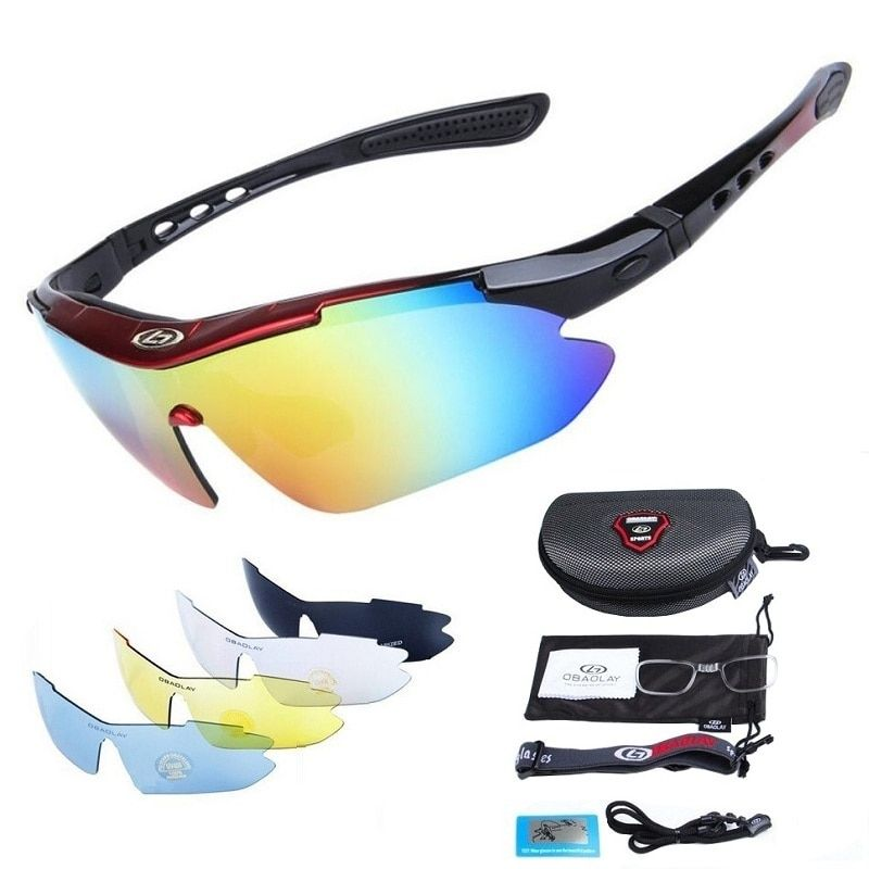 Polarized Cycling Glasses for Men Women Professional Riding MTB Sunglasses Mountain Road Oculos Windproof Eyewear