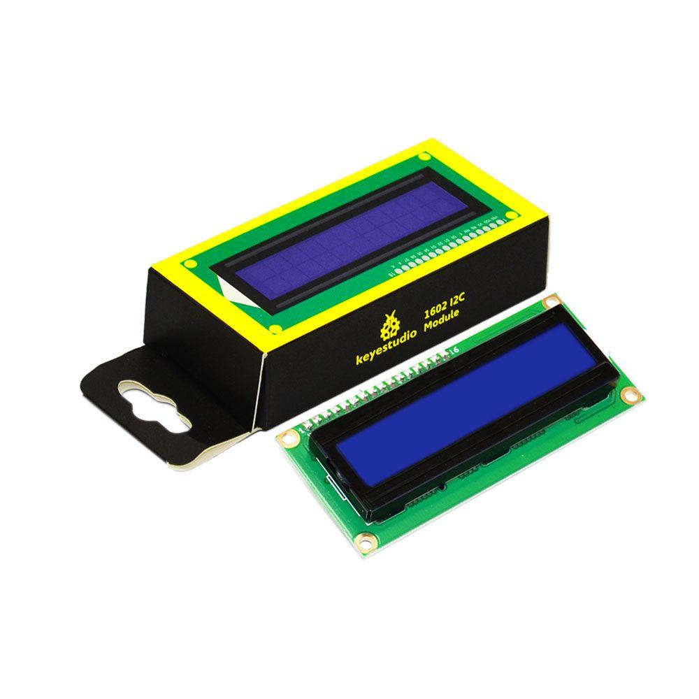 Livraison gratuite! Keyestudio 16X2 1602 I2C/TWI LCD Module D'affichage pour Arduino UNO R3 MEGA 2560 Blanc en Bleu