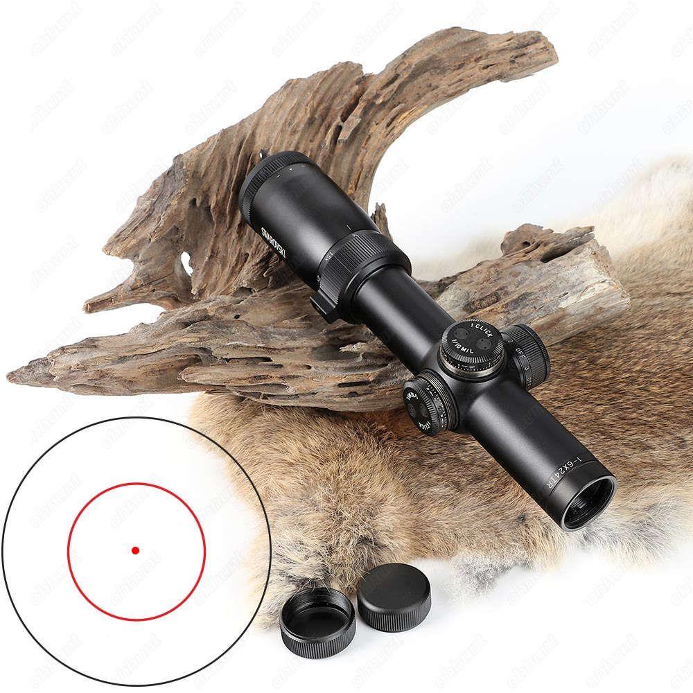 Jagd Swarovskl 1-6X24IR Compact Zielfernrohr F101 Kreis Red Dot Optical Sehenswürdigkeiten Glas Geätzt Absehen Schießen Zielfernrohr