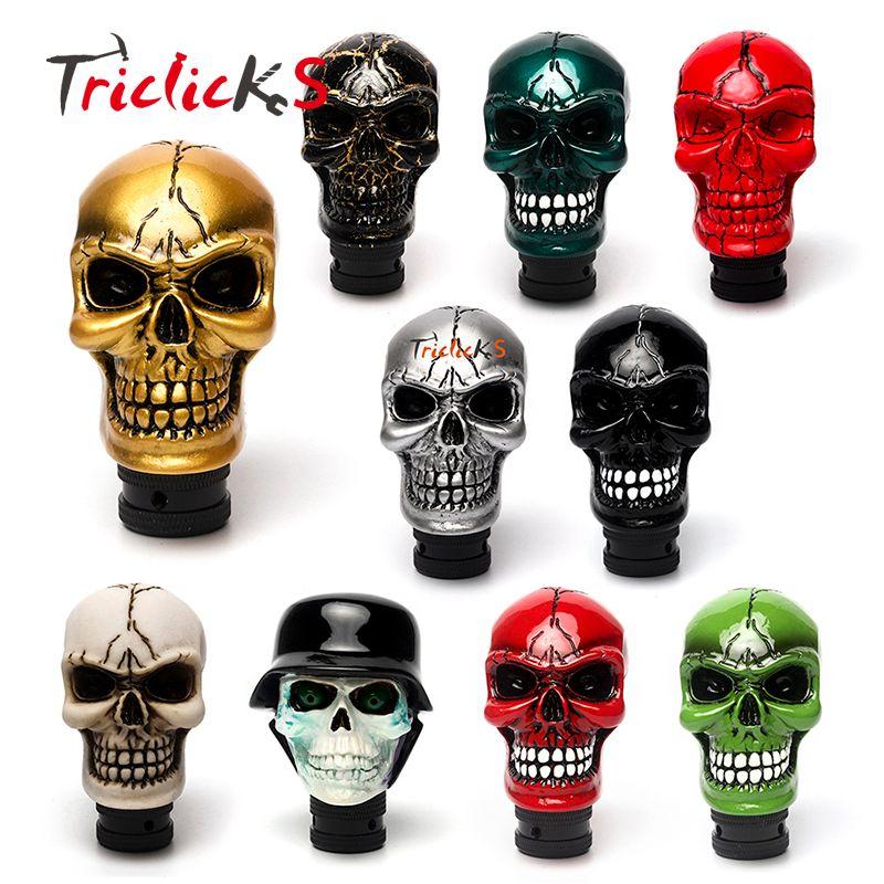 Triclicks commande manuelle universelle levier de vitesse de voiture levier de manette de vitesse résine dix couleurs crâne poignée Konbs Modification couvertures