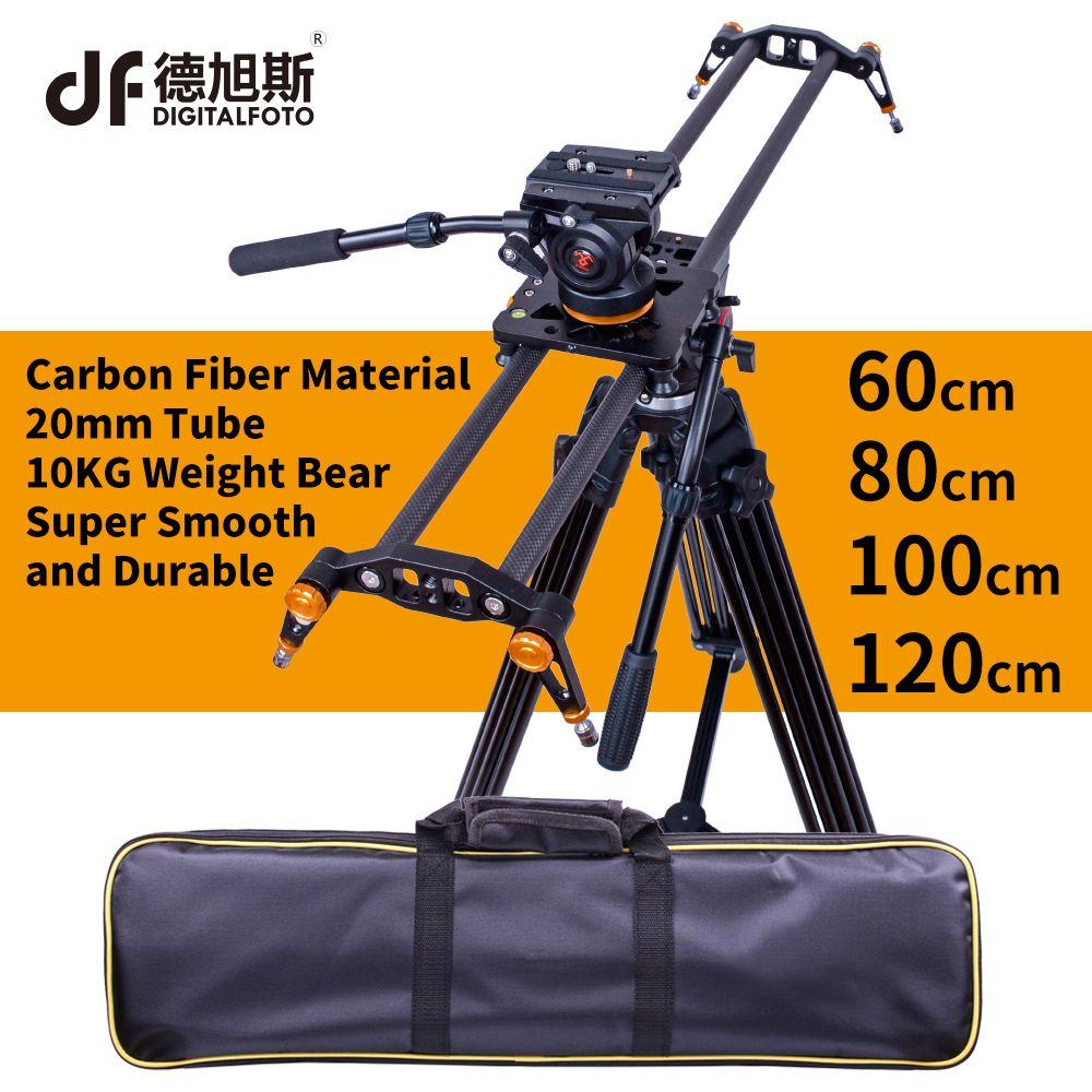 DIGITALFOTO carbon kamera slider 10 kg tragen reise video dolly track dslr schiene für Nikon Canon Sony videofilmer