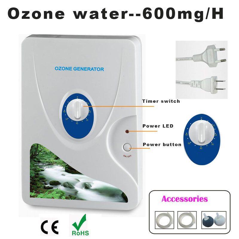 1 pc 600 mg générateur d'ozone purificateur d'air Ozoneur Ozonizador Ozone Ozono concentrateur d'oxygène portable Purification De L'eau de Stérilisation