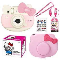 Fujifilm Instax Mini Pink Hello Kitty Edisi Terbatas Instan Foto Film kamera + 10 Tas Kamera Instax Film + PU Kasus + Sticker