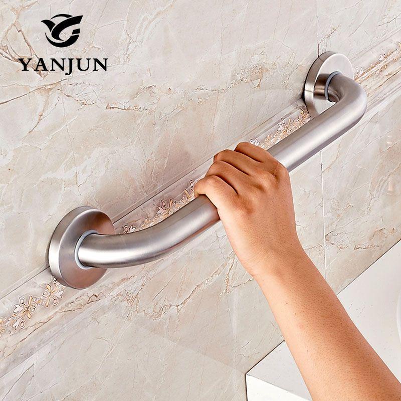 Yanjun Bathroom accessory Stainless Steel Grab Bar Assist Safety Handle Bars 300/400/500mm Anti-slip Grip For Elder YJ2022S