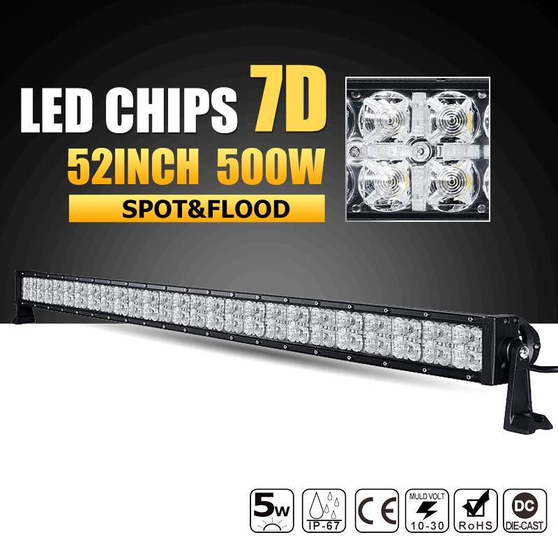 Oslamp 52 zoll 500 watt 7D LED Licht Bar Combo Led-arbeitslicht 12 v 24 v Offroad Led Bar für Jeep Lkw SUV 4WD 4x4 Pickup Fahren Lampe